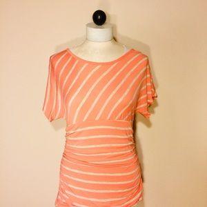 IZ Byer- Orange with Lace Blouse- L